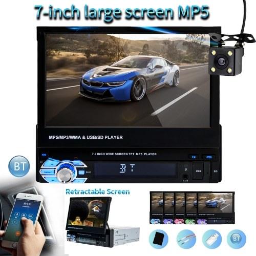 7in 9601 Автомобильный MP5-плеер Автомобильный стерео AM FM-радио BT Видео Медиа-плеер Экран контакта Автомобильная электроника с камерой заднего вида фото