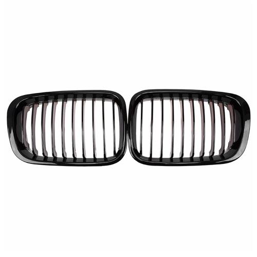2шт Передний бампер Капот почки Решетка радиатора Замена гоночной решетки для BMW 3-Series E46 4-дверная 1998-2001