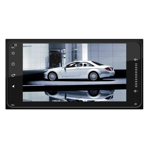 7-дюймовый автомобильный Android 8.1 Мультимедиа 2 Din Универсальный автомобильный радиоприемник с навигацией Bt Wifi