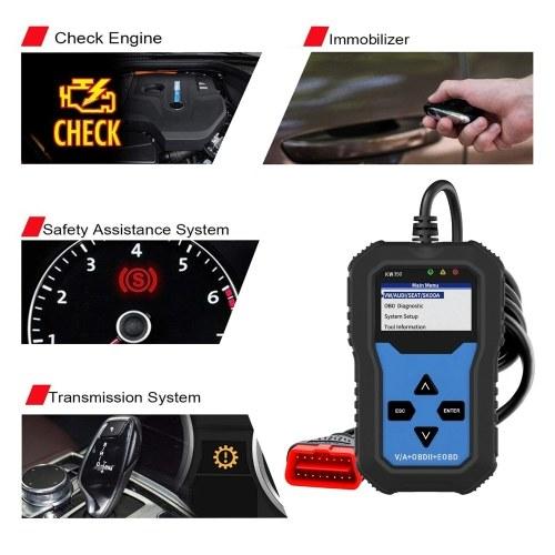 Universal OBDII Scanner Code Reader Engine Fault Reader Tire Pressure Monitoring Car Diagnostic Scanner Tool for VW Audi Skoda