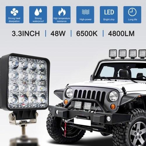 4 дюймовый 18 Вт 27 Вт 48 Вт Внедорожник 4WD Грузовой Трактор Лодочный Прицеп 4x4 ВНЕДОРОЖНИК ATV 24 В 12 В Spot LED Light Bar LED Work Light