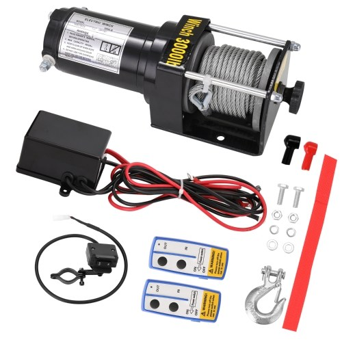 Electric Winch 12.0V/24V Vehicle Mounted Winch Off-road Vehicle Winch Field Self Rescue Small Winch Lifting and Hauling Tools