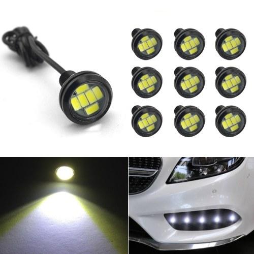 23 мм Светодиодная лампа Eagle Eye, DRL Light Ультратонкий водонепроницаемый черный алюминиевый корпус Автомобиль Мотоцикл Сигнал поворота Противотуманный фонарь заднего хода, 10 шт. В упаковке