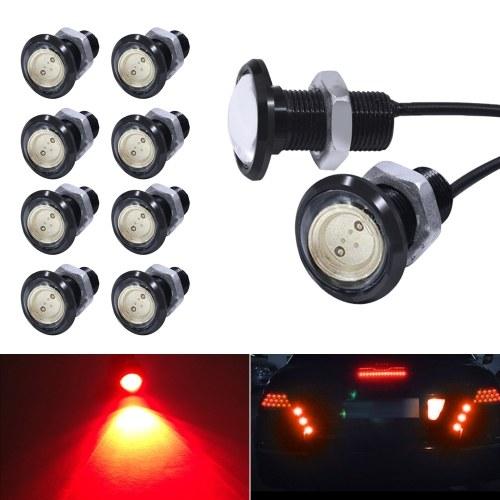 Eagle Eye LED Bulb,DRL Light Ultra Thin Waterproof Black Aluminum Shell Car Motorcycle Turn Signal Light Fog Tail Backup Reverse Light,10-Pack