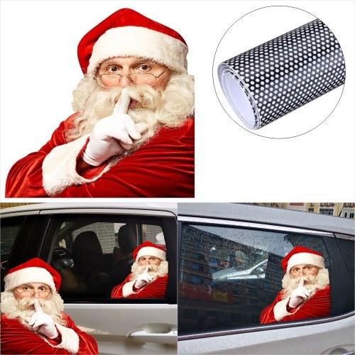 2PCS 3D Cartoon Santa Car Window Cover Auto Covers Etiqueta engomada realista del coche Regalo de Navidad (izquierda y derecha)