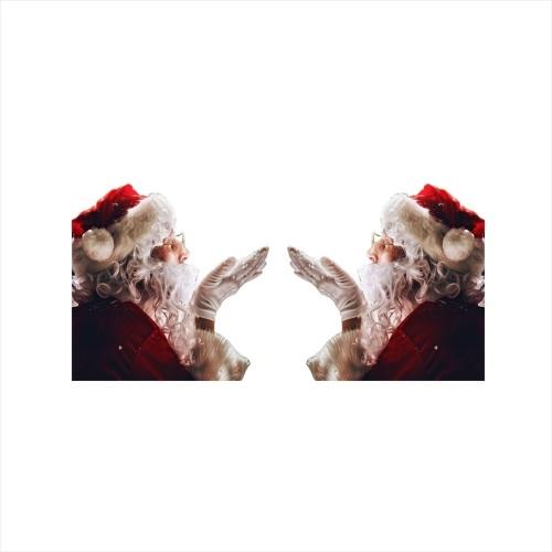 Наклейки на окна автомобиля, 2 шт., 30 * 30 см, 3D мультяшный Санта, крышка окна автомобиля, авто охватывает, реалистичная наклейка на автомобиль, рождественский подарок (слева и справа)