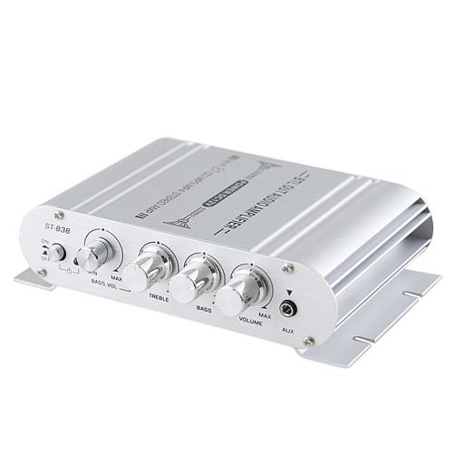 Mini amplificador de potencia de alta fidelidad digital 2.1CH Subwoofer Reproductor de audio estéreo Coche Motocicleta Amplificador de potencia para el hogar