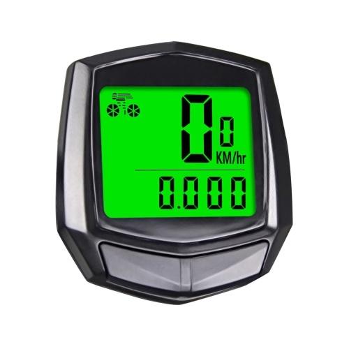 Velocímetro de bicicleta, velocímetro de bicicleta Odômetro de bicicleta com visor LCD Velocímetro preciso