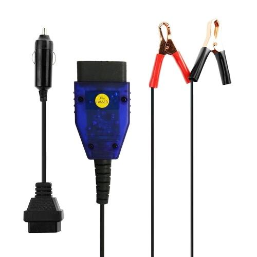 Ahorro de datos de memoria del automóvil Cable de alimentación de emergencia automotriz Probador de batería Conector de ahorro de memoria Guardián de memoria automotriz 2 pinzas de cocodrilo