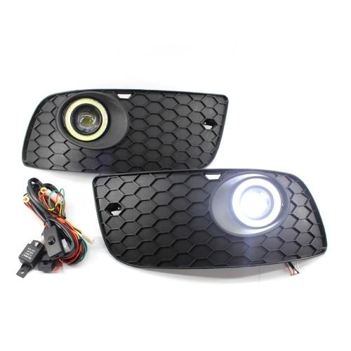 Frontnebel Engel LED Licht Lampe Stoßstange Kühlergrill Abdeckung Ersatz für VW Golf Jetta MK5 06-09