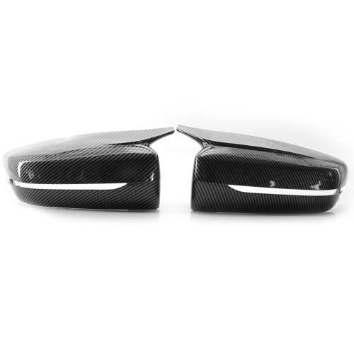 Reemplazo de cubiertas de espejo lateral de puerta de fibra de carbono estilo M para BMW G30 G20 5 Series 17-2020