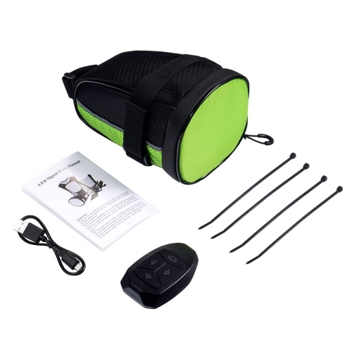 Bike Tail Bag with Wireless Remote Control LED Traffic Lights Image