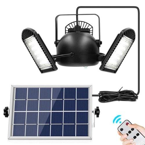 1PCS Luz de garaje LED de tres cabezas 4000K-6000K Brillo ajustable Cuatro modos de iluminación Plegable para iluminación de almacén de garaje (Luz blanca / cálida)