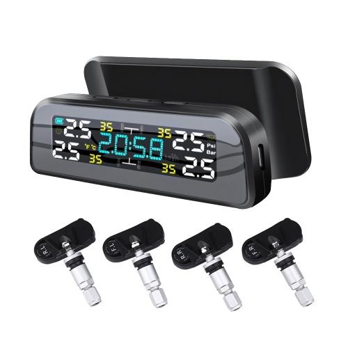 Солнечная энергия Система контроля давления в шинах Автомобильный будильник давления в шинах Детектор давления в шинах (набор внутренних датчиков)