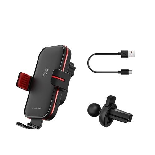 Беспроводное зарядное устройство Автомобильный держатель для телефона Быстрая зарядка Беспроводное зарядное устройство Автомобильное крепление Подставка для мобильного телефона