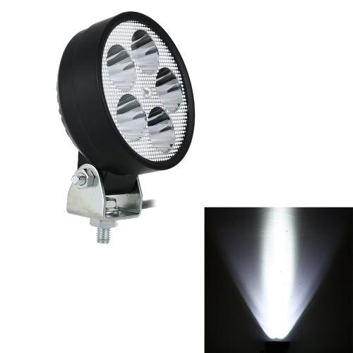 12V-80V 15W 5-Bulb Black LED Headlight Lamp Universal for Motorcycle E-bike