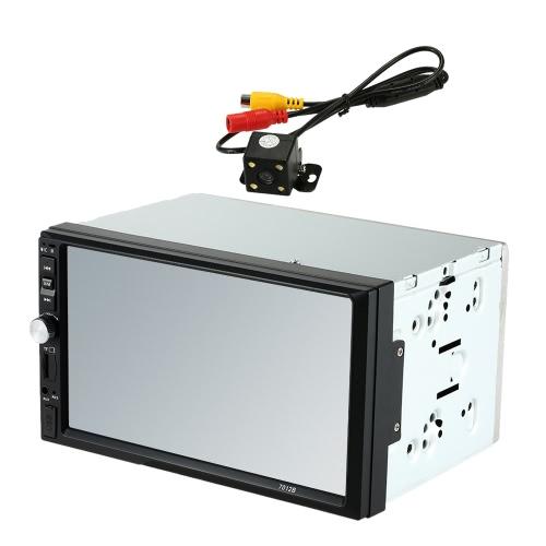 """7 """"Odtwarzacz multimedialny Universal 2 Din HD Odtwarzacz MP5 Odtwarzacz multimedialny Bluetooth z funkcją tylnego aparatu fotograficznego"""
