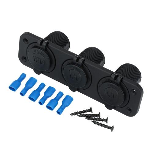 Car Cigarette Lighter Power Socket Splitter Power Charger Adapter 3 Ports 12-24V