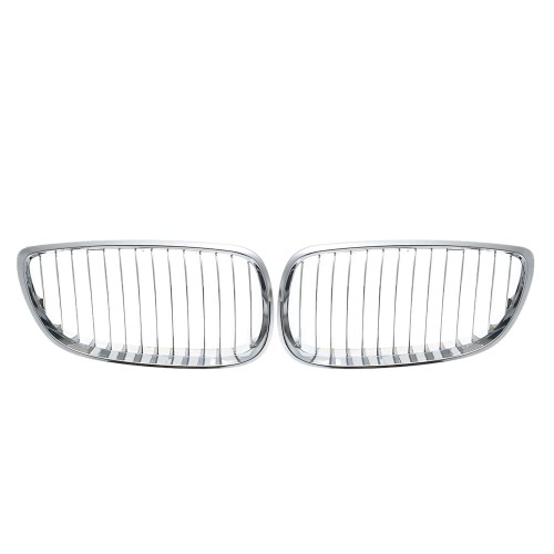 One Pair Chrome Plated Silver Front Grilles Grille for BMW E92 2006-2010