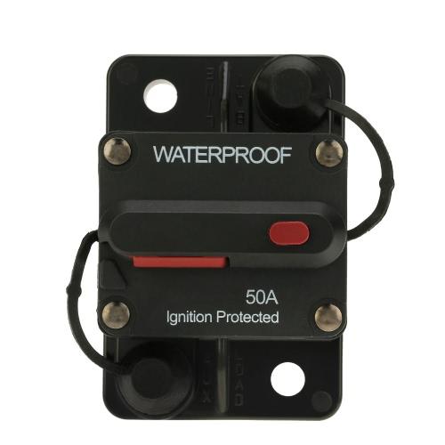 IZTOSS impermeable 50Amp disyuntor sobrecarga protección con Manual Reset interruptor para coche autobús camión caravana barco
