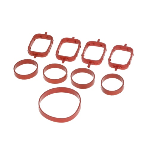 4 PCS Intake Manifold Gaskets Inlet Repair Kit for BMW 320d 330d 520d 525d 530d 730d