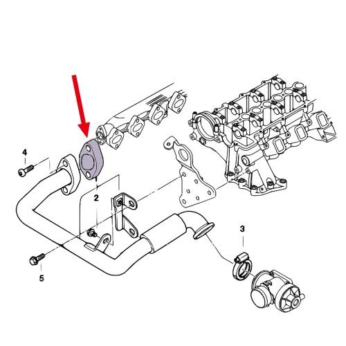 8mm EGR Valve Blanking Block Plates Kit with Gasket for BMW E53 E65 E66 E38 E39 E46 E90