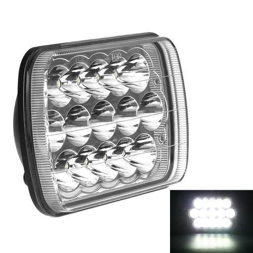 KKmoon 45W LED Car Work Light 8 cali 3200LM Duży panel plamkowy punktowy do Jeep 4x4 Offroad Ciężarówka Wywrotka SUV 12V 24V