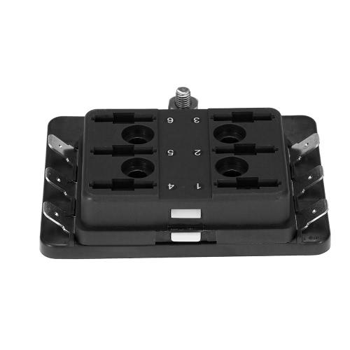 1 Power in 6 Way Blade Fuse Box Holder for Car Boat Marine 12V 24V