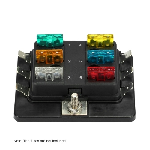1 Power in 6 Way Blade Fuse Box Holder for Car Boat Marine 12V 24V