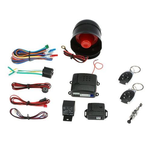 Universal Car Vehicle Security System Burglar Alarm Protection Anti-theft System 2 Remote