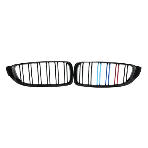 Paire de Centre Avant Kidney Grillages Gloss Black Mixed Grill couleur pour BMW série 4 F32 F33 F36 420i 428i 435i M4 2014-2016