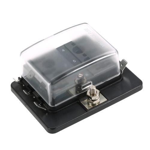 6 Holder Way Mini lama Fuse Box APM ATM 5A 10A 25A per l'automobile marina del crogiolo Trike 12V 24V