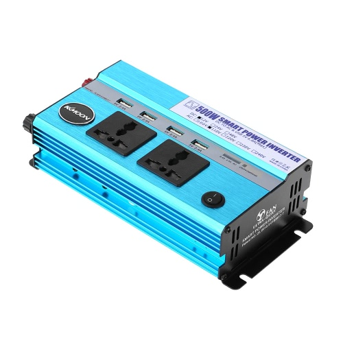 KKmoon 500W Car Power Inverter DC 12V to AC 110V 60Hz with 4 USB Ports / 2 AC Outlets