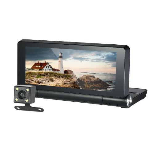 """KKmoon 7 """"Android 4.4 GPS Navigator DVR voiture avec caméra de vision arrière"""