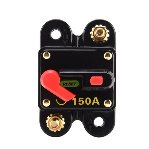 Fusible de réinitialisation du disjoncteur audio de voiture 100A pour protection du système 12V / 24V / 32V