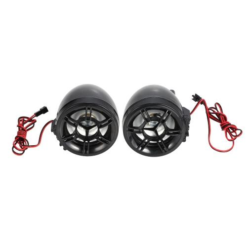 Waterproof Motorcycle Handlebar Système d'amplificateur audio Haut-parleur stéréo de 3 po FM MP3 USB SD AUX Avec télécommande et fonction d'alarme