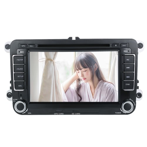 "KKmoon 2 Din 7 ""HD Car DVD Player GPS Navi BT AM / FM Rádio Universal para VolksWagen VW"