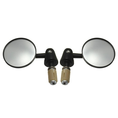 1 Sets 7/8'' 22mm Exterior Diameter Handlebar Rotatable Collapsible Aluminum Round Shape Motorcycle Bar End Rearview Convex Side Mirror Modified Accessories for Street Cars Universal Scooters