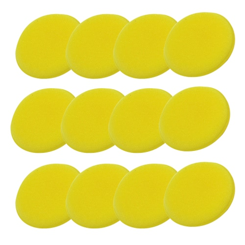 12PCS Car Washing Compress Sponge Waxing Pads Polish Concentrated Multi Holes Foam Pads Special for Automobile Vehicle Supplies Cleaning