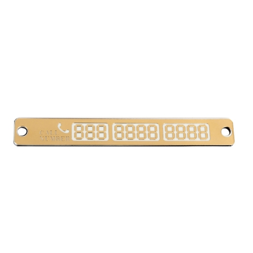 Практичная автомобильная светящаяся наклейка для парковки Яркая временная карточка для парковки с присосками и карточкой номера телефона