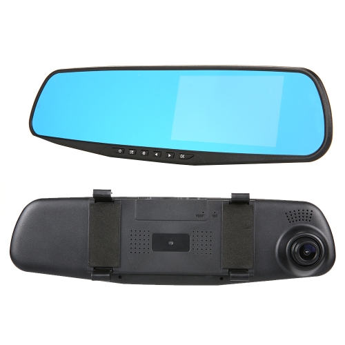 4.3 inch 1080P 140 Degree Wide Angle Car Camera DVR Rearview Mirror