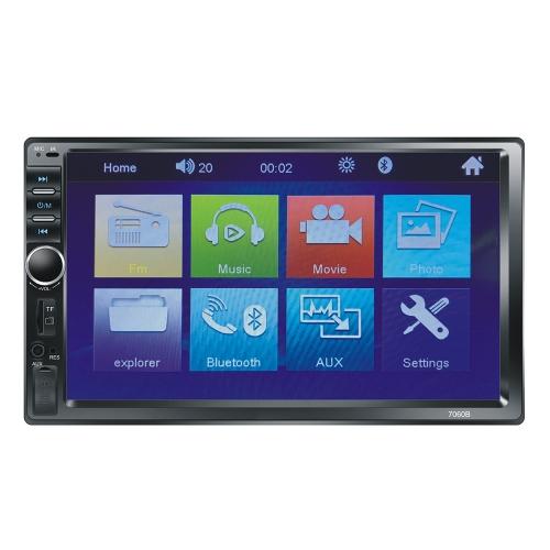 "KKmoon 7 ""Auto Video MP5 Player 2-din Autoradio BT FM Bunte Power Key"