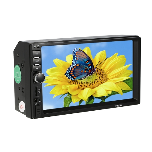 KKmoon 7 pulgadas Car Video MP5 Player 2-din Car Radio BT FM Colorful Power Key