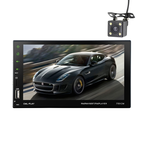 7-дюймовый сенсорный экран 2 Din BT Car MP5 Player Автомобильное радио Аудио стерео FM RDS с поддержкой зеркальной камеры
