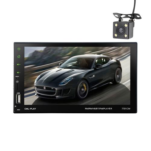 7 polegadas Touch Screen 2 Din BT Car MP5 Player Rádio Rádio Áudio Estéreo FM RDS com Camera Support Mirror Link