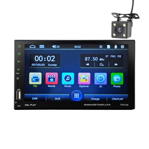 7in Touch Screen Auto MP5 Player 2 Din Autoradio Audio Stereo FM RDS Telecomando BT con fotocamera