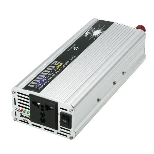 2000W WATT DC 12V to AC 110V Portable Car Power Inverter Charger Converter