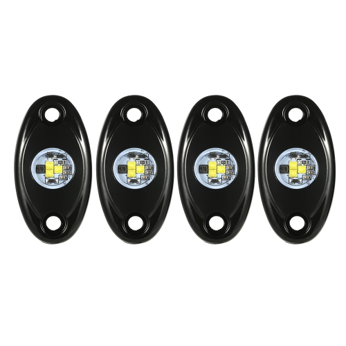 4pcs LED Rock Light Waterproof Truck Boat Underbody Glow Trail Rig Lamps