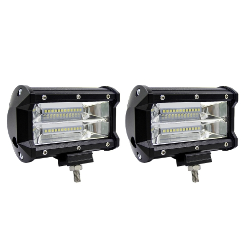 2Pcs 5inch 72W LED Light Bar Spot Beam Work Light Driving Fog Light Road Lighting for Jeep Car Truck SUV Boat Marine