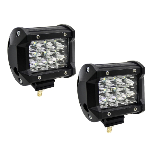 KKmoon 2Pcs 4inch 36W LED Light Bar Work Lights Spot Beam Driving Fog Light Road Lighting for Jeep Car Truck SUV Boat Marine